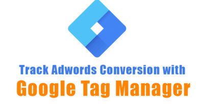 Track Adwords Conversion with Google Tag Manager